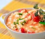 White Bean Soup with Rosemary & Sun-Dried Tomatoes (Vegetarian)
