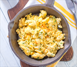 Apple and Gouda Scrambled Eggs
