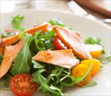 Arugula Salad and Roasted Sesame Salmon