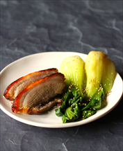 Asian Pork Belly and Baby Bok Choy