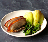 Asian Pork Belly with Sesame Bok Choy