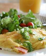 Avocado and Green Onion Omelet