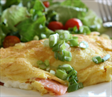 Avocado and Scallion Omelet