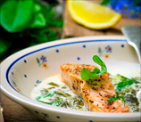 Keto Baked Salmon with Coconut Creamed Leeks