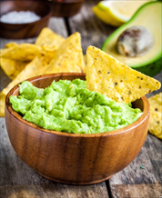 Bean Chips and Guacamole