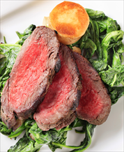 Beef Tenderloin with Garlic Sautéed Baby Kale