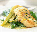 Black Cod with Creamy Coconut-Lime Sauce and Leeks
