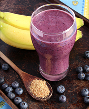 Blueberry Banana Flax Smoothie