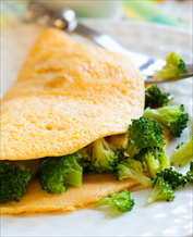 Broccoli and Cheddar Omelet