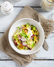 Brussels Sprout, Quinoa & Egg Bowl