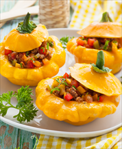 Buffalo Stuffed Tex-Mex Squash Boats