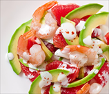 California Salad with Shrimp, Grapefruit and Avocado