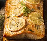 Cedar-Planked Salmon with Mustard Glaze