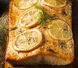 Cedar-Planked Salmon with Mustard Glaze