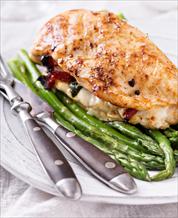 Chicken Caprese and Sautéed Asparagus