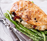 Chicken Caprese with Sauteed Asparagus