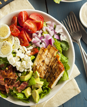 Chicken Cobb Salad with Red Wine Vinaigrette