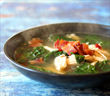 Chicken, Kale and Bacon Stew