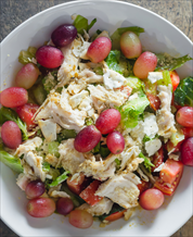 Chicken Salad with Grapes, Apples and Pecans