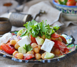 Chickpea and Heart of Palm Salad with Feta Cheese
