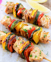 Chili Lime Chicken and Squash Kabobs