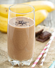 Chocolate, PB & Banana Smoothie Snack (Vegan)