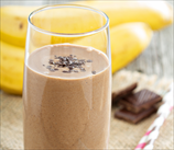 Chocolate, Peanut Butter & Banana Smoothie (Vegan)