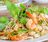 Chopped Asian Salad with Grilled Wild Shrimp & Sesame Vinaigrette