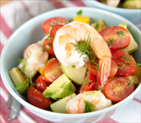 Chopped Mediterranean Salad with Shrimp and Lemon-Dill Dressing
