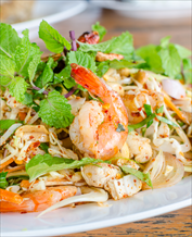 Chopped Thai Salad with Shrimp