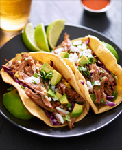 Cilantro Lime Pork Tacos and Spicy Southwestern Slaw