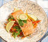 Citrus Cilantro Salmon with Quick Slaw