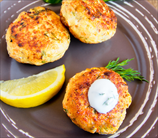 Cod and Shrimp Burgers with Horseradish-Mustard Sauce