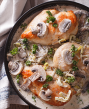 Creamy Paleo Chicken with Mushrooms