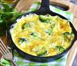 Crimini Mushroom and Broccoli Omelet