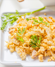 Keto Curried Coconut Scrambled Eggs