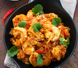 Curried Shrimp in Not-Peanut Sauce
