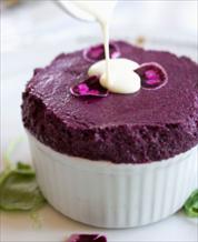 Dessert: Blueberry Souffles
