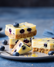 Dessert: Coconut Blueberry Cheesecake Squares