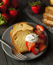 Dessert: Keto Paleo Pound Cake with Whipped Cream