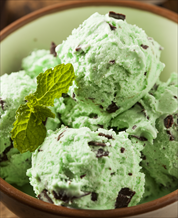 Dessert: Mint Chip Ice Cream (Dairy Free)