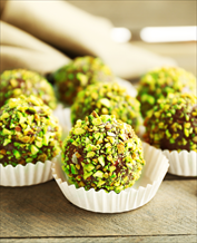 Dessert: Pistachio-Orange Truffles