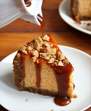 Dessert: Pumpkin Bourbon Cheesecake with Pecan Crust