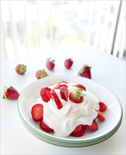 Dessert: Strawberries & Coconut Cream
