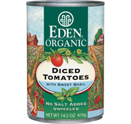 Eden Foods Organic Diced Tomatoes with Basil (14.5 oz)