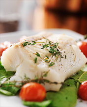 Easy Baked Halibut with Spinach and Cherry Tomatoes