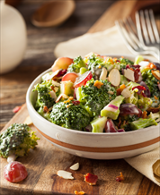 Easy Broccoli Salad with Grapes and Bacon (AIP)