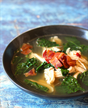 Easy Chicken, Kale and Bacon Stew