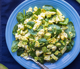 Egg and Spinach Salad with Scallions