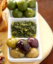 Feta, Tomato & Olive Snack